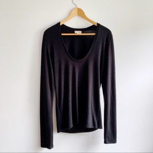 Aritzia Wilfred Free Scoop Neck Long Sleeve Size L